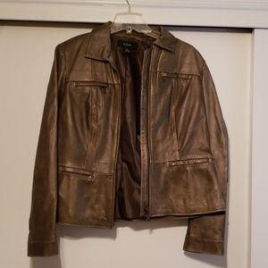 Brown soft leather short Jacket